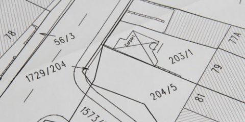 Vermessungsplan für ein Flurstück - Flächensicherung
